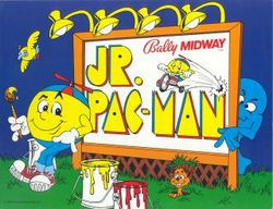 Box artwork for Jr. Pac-Man.