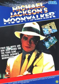 Box artwork for Michael Jackson's Moonwalker.