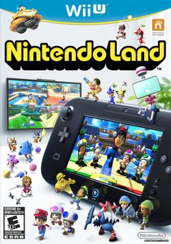 Box artwork for Nintendo Land.