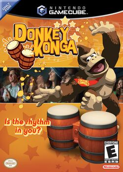 Box artwork for Donkey Konga.