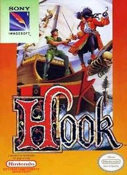 Box artwork for Hook (NES).
