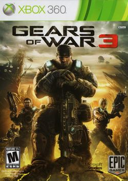Box artwork for Gears of War 3.