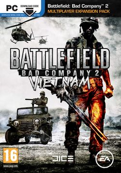 Box artwork for Battlefield: Bad Company 2: Vietnam.