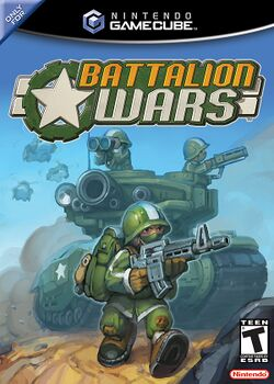 Box artwork for Battalion Wars.