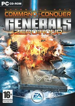 Box artwork for Command & Conquer: Generals - Zero Hour.