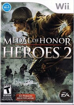 Box artwork for Medal of Honor: Heroes 2.