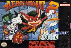 Box artwork for Aero the Acro-Bat 2.