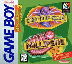 Box artwork for Arcade Classic No. 2: Centipede / Millipede.
