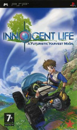 Box artwork for Innocent Life: A Futuristic Harvest Moon.