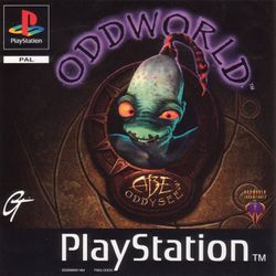 Box artwork for Oddworld: Abe's Oddysee.