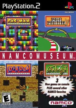 Box artwork for Namco Museum.