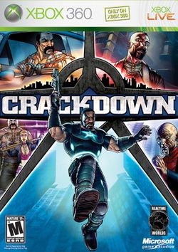 Box artwork for Crackdown.