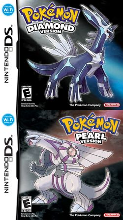Box artwork for Pokémon Diamond and Pearl.