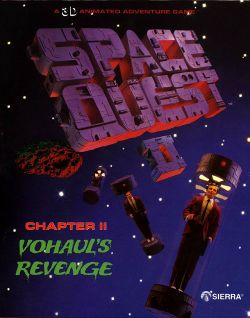 Box artwork for Space Quest II: Vohaul's Revenge.