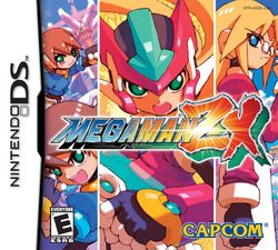 Box artwork for Mega Man ZX.