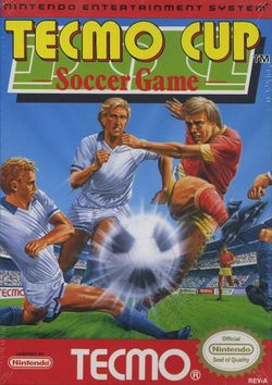 Box artwork for Tecmo Cup Soccer Game.