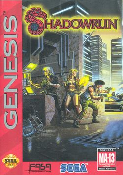 Box artwork for Shadowrun.