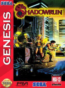 Box artwork for Shadowrun.