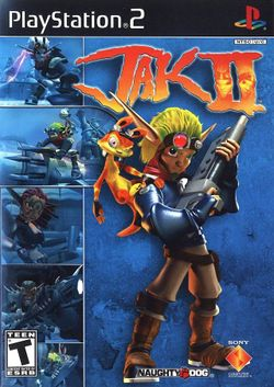 Box artwork for Jak II.