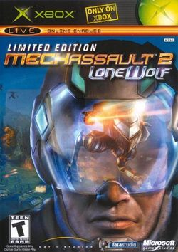 Box artwork for MechAssault 2: Lone Wolf.