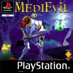 Box artwork for MediEvil.