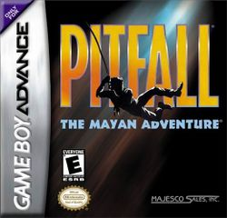 Box artwork for Pitfall: The Mayan Adventure.
