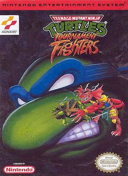 Box artwork for Teenage Mutant Ninja Turtles: Tournament Fighters.