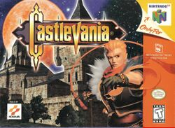 Box artwork for Castlevania 64.