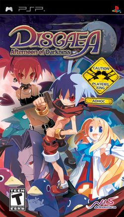 Box artwork for Disgaea: Afternoon of Darkness.