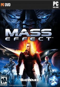 Box artwork for Mass Effect.