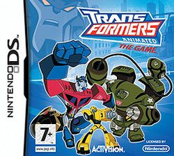 Box artwork for Transformers Animated: The Game.
