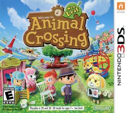 Box artwork for Animal Crossing: New Leaf.