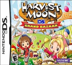 Box artwork for Harvest Moon DS: Grand Bazaar.