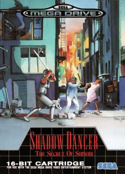 Box artwork for Shadow Dancer: The Secret of Shinobi.