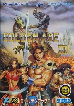 Box artwork for Golden Axe III.