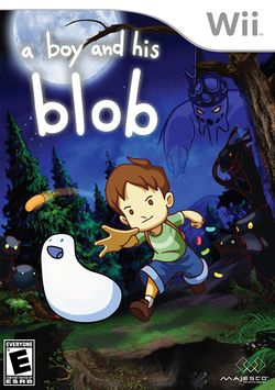 Box artwork for A Boy and His Blob.