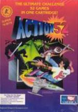 Box artwork for Action 52 (Genesis).