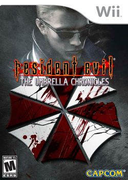 Box artwork for Resident Evil: The Umbrella Chronicles.