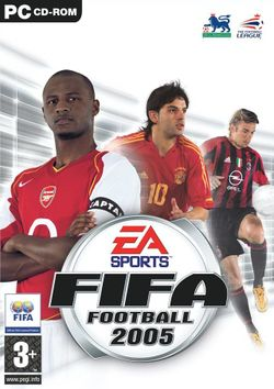 Box artwork for FIFA Football 2005.