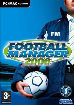 Box artwork for Football Manager 2006.