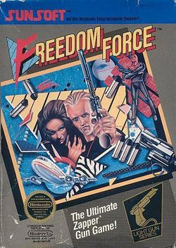 Box artwork for Freedom Force.