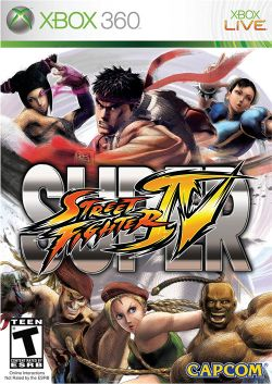 Box artwork for Super Street Fighter IV.
