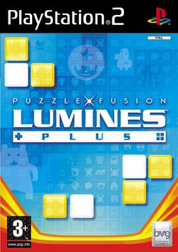 Box artwork for Lumines Plus.