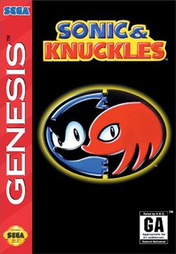 Box artwork for Sonic & Knuckles.