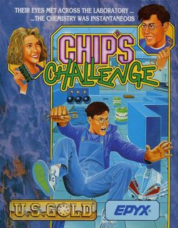 Box artwork for Chip's Challenge.