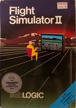 Box artwork for Flight Simulator II.