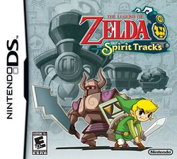 Box artwork for The Legend of Zelda: Spirit Tracks.