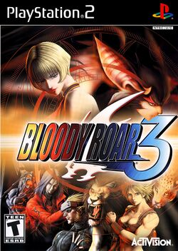 Box artwork for Bloody Roar 3.