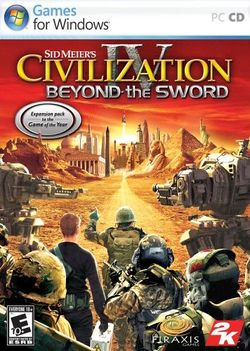 Box artwork for Civilization IV: Beyond the Sword.