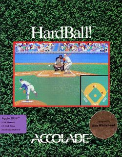Box artwork for Hardball!.